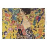 Gustav Klimt - Woman with fan Greeting Card