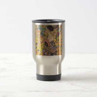 Gustav Klimt - Woman with fan 15 Oz Stainless Steel Travel Mug