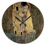 Gustav Klimt's The Kiss (circa 1908) Clock