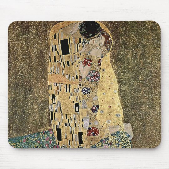 Gustav Klimt's The Kiss (circa 1908) Mouse Mat