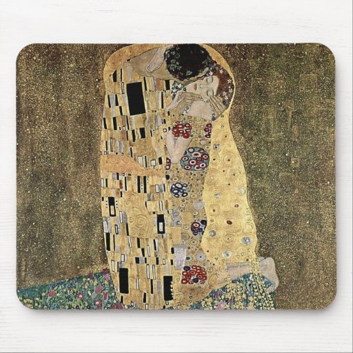 Gustav Klimt's The Kiss (circa 1908) Mouse Pad
