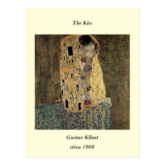 Gustav Klimt's The Kiss (circa 1908) Postcard