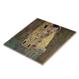 Gustav Klimt's The Kiss (circa 1908) Tile