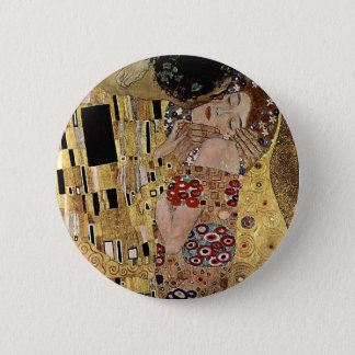 Gustav Klimt's The Kiss Detail (circa 1908) 6 Cm Round Badge