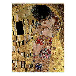 Gustav Klimt's The Kiss Detail (circa 1908) Postcard