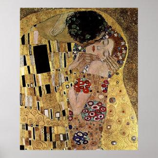 Gustav Klimt's The Kiss Detail (circa 1908) Poster