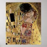 Gustav Klimt's The Kiss Detail (circa 1908) Print