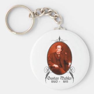 Gustav Mahler Basic Round Button Key Ring