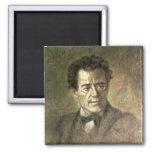 Gustav Mahler Square Magnet