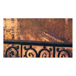Gustave Caillebotte- A Balcony in Paris Pack Of Standard Business Cards