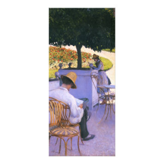 Gustave Caillebotte-Artist s Brother in His Garden Rack Card Design