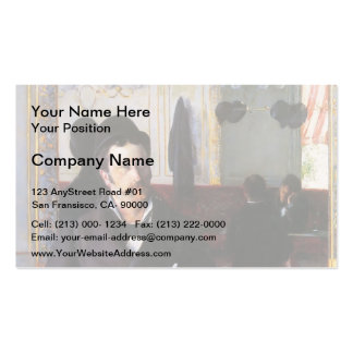 Gustave Caillebotte- At the Cafe, Rouen Pack Of Standard Business Cards