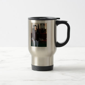Gustave Caillebotte- At the Cafe, Rouen Stainless Steel Travel Mug