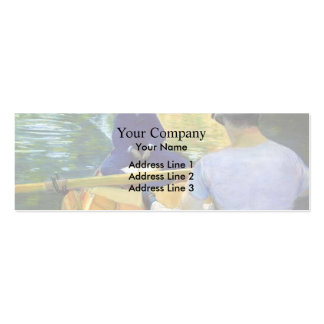 Gustave Caillebotte: Boaters on the Yerres Pack Of Skinny Business Cards