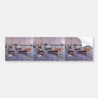 Gustave Caillebotte- Boats on Seine at Argenteuil Bumper Sticker