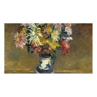 Gustave Caillebotte- Chrysanthemums in a Vase Pack Of Standard Business Cards