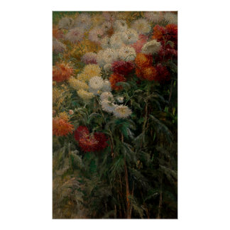 Gustave Caillebotte Chrysanthemums Poster
