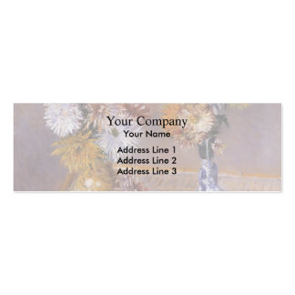 Gustave Caillebotte- Four Vases of Chrysanthemums Business Card Template