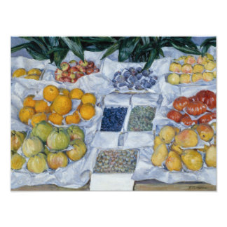 Gustave Caillebotte - Fruit Displayed on a Stand Photo Art