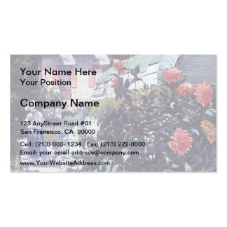 Gustave Caillebotte- Garden at Petit Gennevilliers Business Card Template