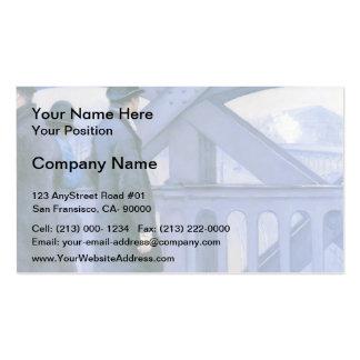 Gustave Caillebotte- Le Pont de l'Europe Business Card Templates