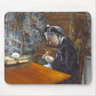 Gustave Caillebotte - Mademoiselle Boissiere Mouse Pad