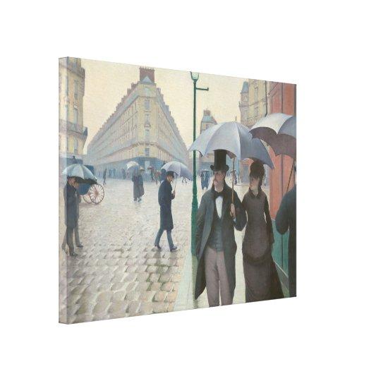 Gustave Caillebotte - Paris Street; Rainy Day Canvas