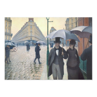 Gustave Caillebotte   Paris Street Rainy Day Card