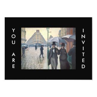 "Gustave Caillebotte Paris Street Rainy Day 5"" X 7"" Invitation Card"
