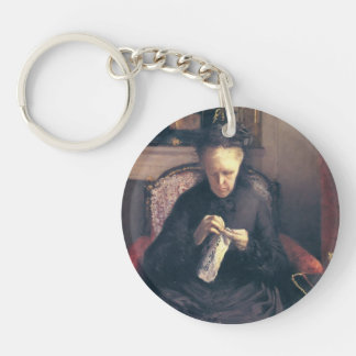 Gustave Caillebotte-Portrait of Madame Caillebotte Key Chain