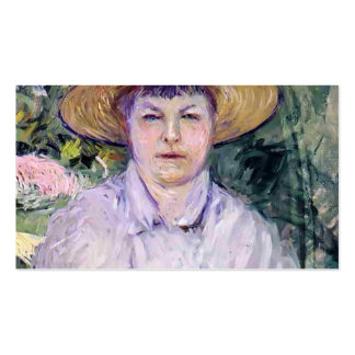 Gustave Caillebotte- Portrait of Madame Renoir Business Card Templates