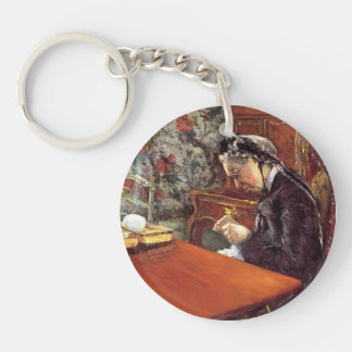 Gustave Caillebotte- Portrait of Mademoiselle Keychain