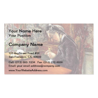 Gustave Caillebotte- Portrait of Mademoiselle Pack Of Standard Business Cards