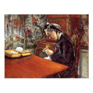 Gustave Caillebotte- Portrait of Mademoiselle Postcard