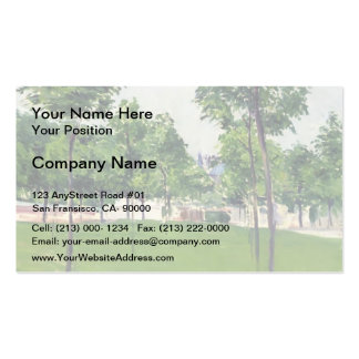 Gustave Caillebotte- Promenade at Argenteuil Pack Of Standard Business Cards