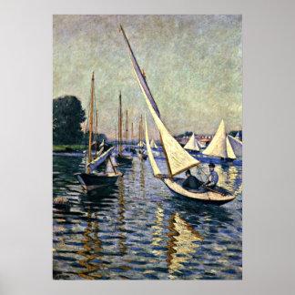 Gustave Caillebotte: Regatta at Argenteuil Print