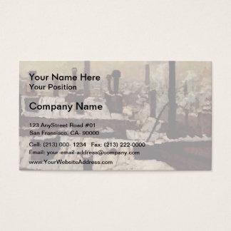 Gustave Caillebotte- Roof under the Snow, Paris Business Card