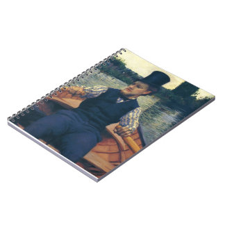 Gustave Caillebotte- Rower in a Top Hat Notebooks