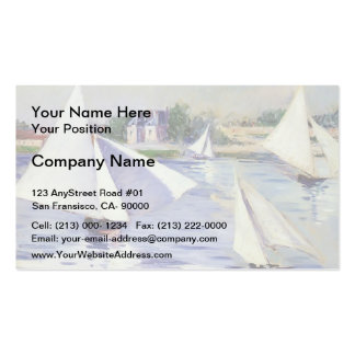 Gustave Caillebotte- Sailboats on  the Seine Pack Of Standard Business Cards