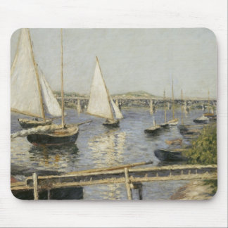 Gustave Caillebotte - Sailing Boats at Argenteuil Mousepad