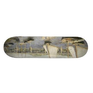 Gustave Caillebotte - Sailing Boats at Argenteuil Skateboard