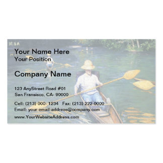 Gustave Caillebotte- Skiffs on the Yerres Pack Of Standard Business Cards