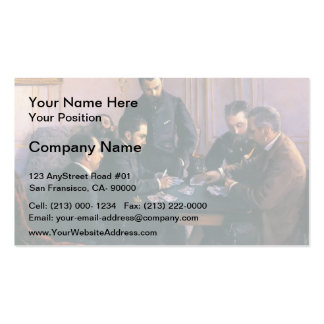 Gustave Caillebotte- The Bezique Game Pack Of Standard Business Cards