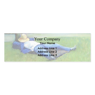 Gustave Caillebotte: The Nap Business Card Template