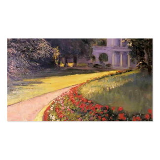 Gustave Caillebotte- The Park at Yerres Business Card Template