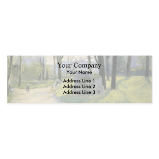 Gustave Caillebotte- The Park Monceau Business Card Templates