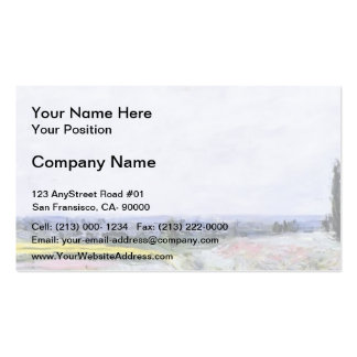 Gustave Caillebotte- The Plain at Gennevilliers Pack Of Standard Business Cards