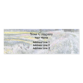 Gustave Caillebotte- The Plain at Gennevilliers Business Card Template
