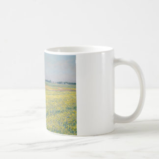 Gustave Caillebotte - The Plain of Gennevilliers Basic White Mug