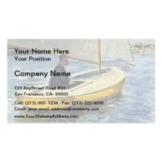 Gustave Caillebotte- The Yellow Boat Business Card